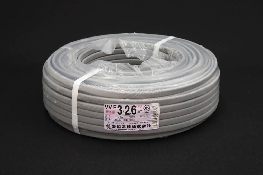 愛知電線 VVFケーブル 3×2.6mm LFV 条長:100m(2021年3月買取)