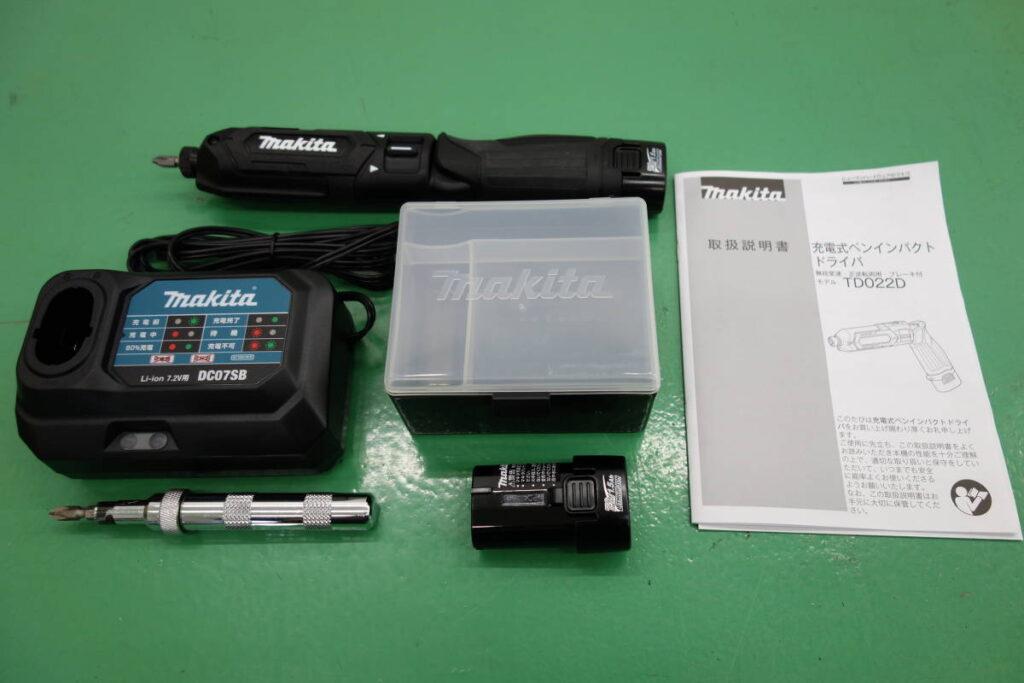 中古品 マキタ 充電式 ペン インパクトドライバ 7.2V用 TD022D(2018年8月買取)