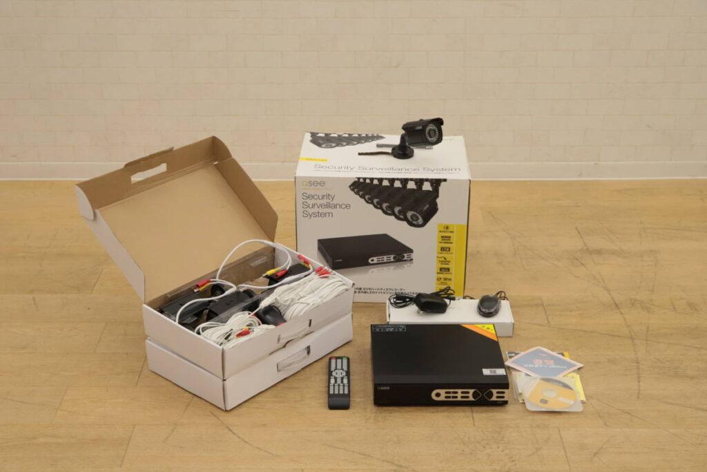 展示品 QSee 1TB HDD内蔵 赤外線LEDナイトビジョンカメラ 8台 防水防塵 QT578-8P3-1 (2019年4月買取)