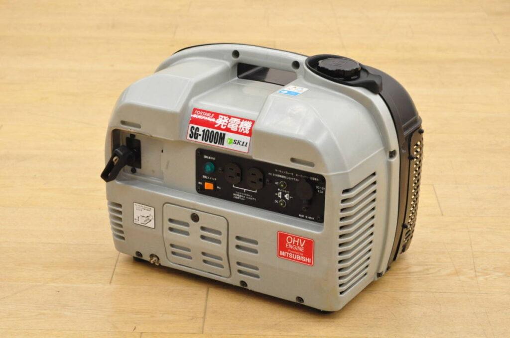 中古品 三菱 藤原産業 SK11 エンジン発電機 SG-1000M(2019年7月買取)