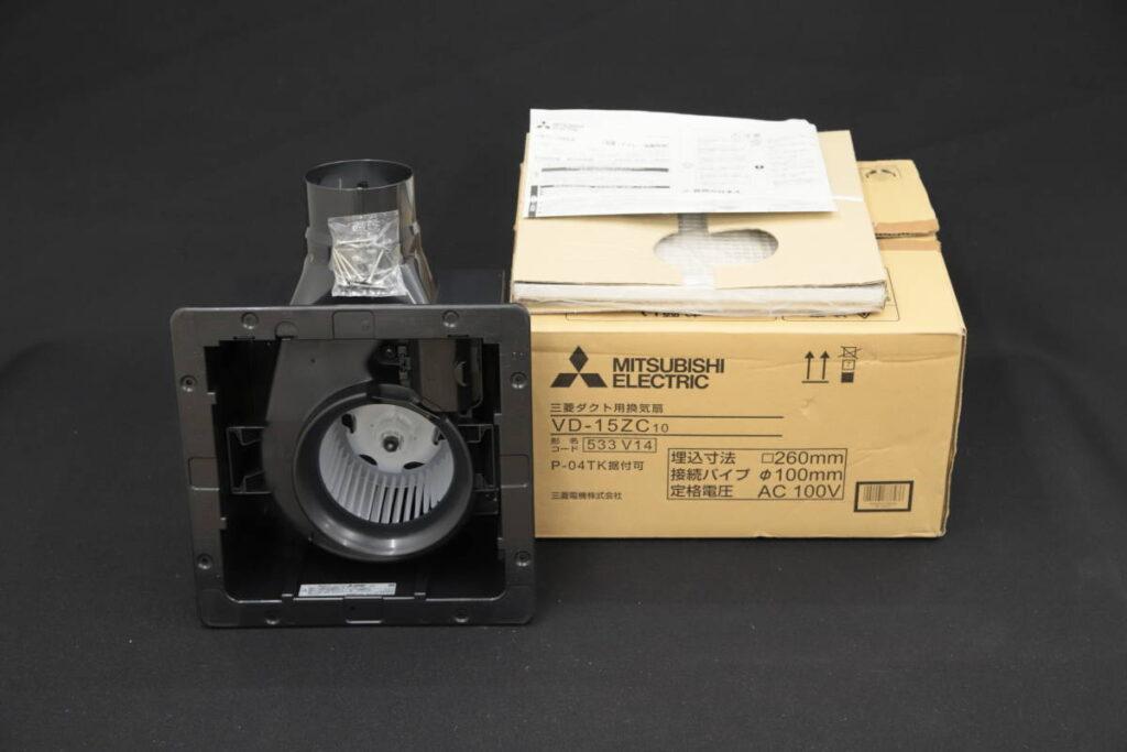 未使用 MITSUBISHI 三菱 ダクト用換気扇 VD-15ZC10 2018年製(2019年7月買取)