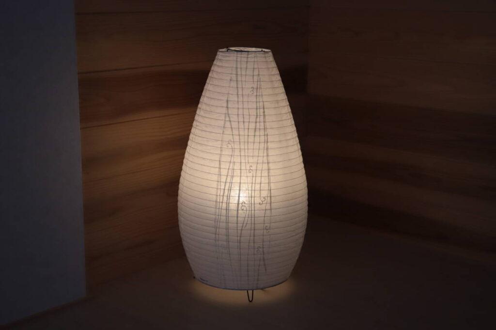 展示品 パナソニック フロアスタンド ランプ 和風 照明 床置型 和紙張りセード 美濃和紙・雲母摺り調仕上 LED電球付き SF998 (2019年4月買取)